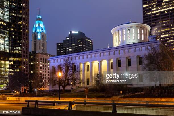 ohio statehouse, columbus, ohio, america - オハイオ州庁舎 ストックフォトと画像
