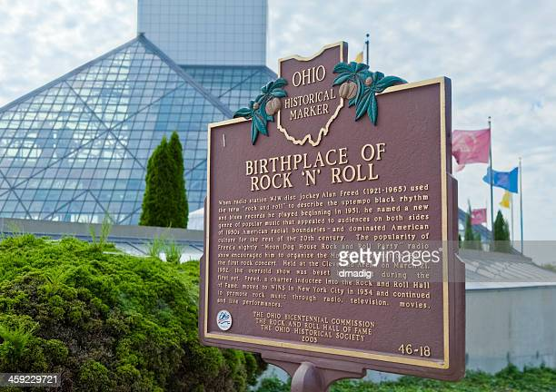 Ohio's Birthplace of Rock and Roll Hall Historical Marker