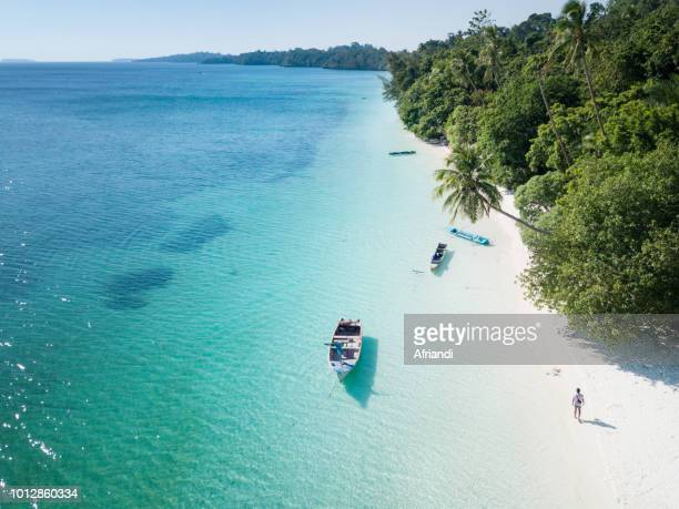 ohoililir beach, kei island - indonesia stock photos and pictures