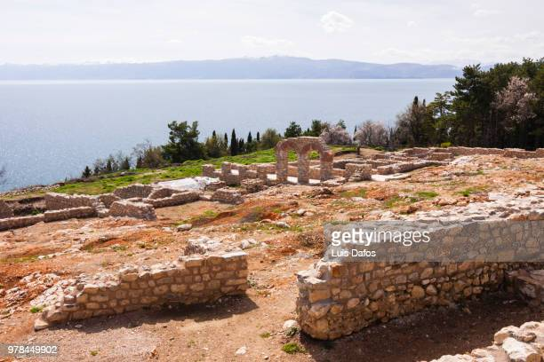 ohrid, byzantine ruins - byzantine stock pictures, royalty-free photos & images