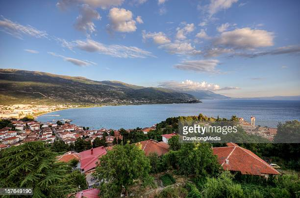 ohrid macedonia - lake ohrid stock photos and pictures