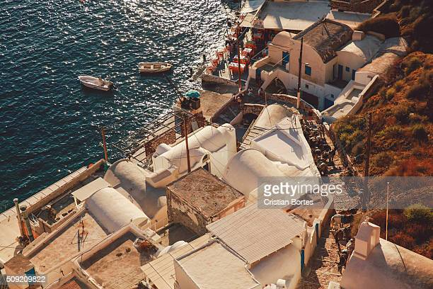 oia harbor - bortes stock photos and pictures
