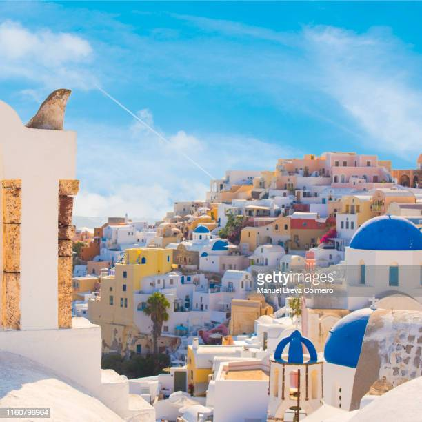 oia, santorini - greek orthodoxy stock pictures, royalty-free photos & images