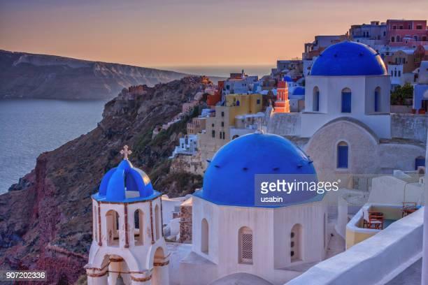 Oia Three Blue Churches