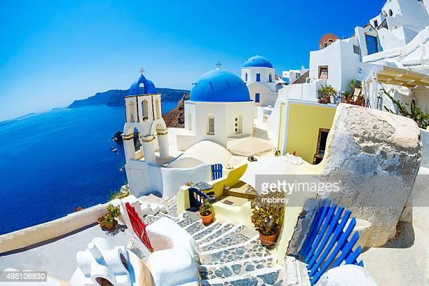 Oia (Ia) village on Santorini island, Greece