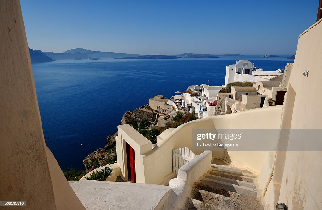 Oia Village on the island of Santorini, Greece : Stock Photo