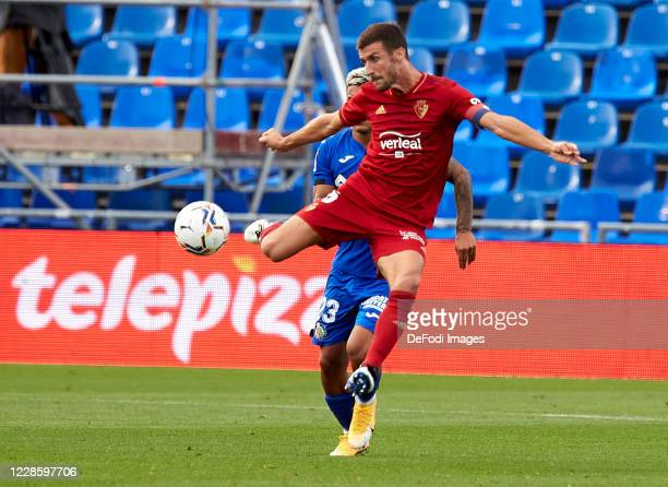 Oier of CA Osasuna controls the ball prior to the La Liga Santander match between Getafe CF and CA Osasuna at Coliseum Alfonso Perez on September 19...