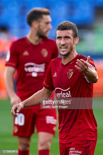 Oier of CA Osasuna reacts during the La Liga Santander match between Getafe CF and CA Osasuna at Coliseum Alfonso Perez on September 19 2020 in...