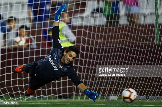 Oier of Levante UD in action during the PreSeason Friendly match between Albacete Balompie and Levante UD at Carlos Belmonte Stadium on August 8 2018...