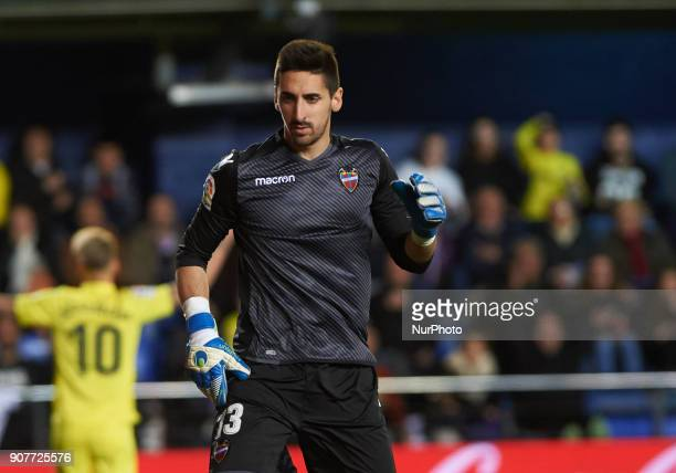 Oier of Levante Union Deportiva during the La Liga match between Villarreal CF and Levante Union Deportiva at Estadio de la Ceramica on January 20...