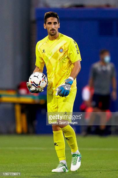 Oier Olazabal Paredes of RCD Espanyol with the ball during a PreSeason friendly match between RCD Espanyol and SD Huesca at Ciutat Esportiva Dani...