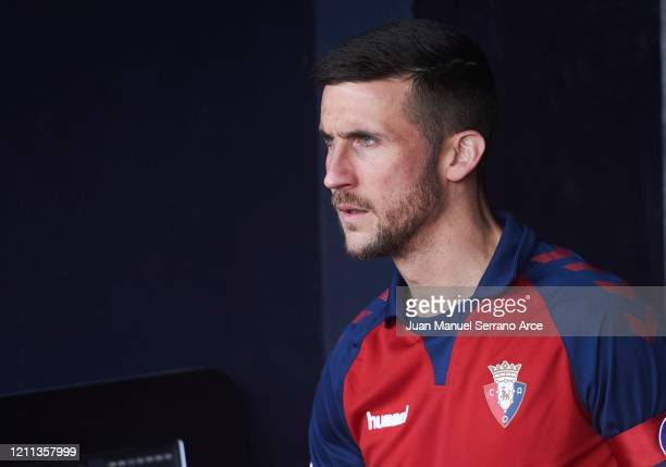 Oier Sanjurjo of CA Osasuna reacts during the Liga match between CA Osasuna and RCD Espanyol at El Sadar Stadium on March 08, 2020 in Pamplona, Spain.