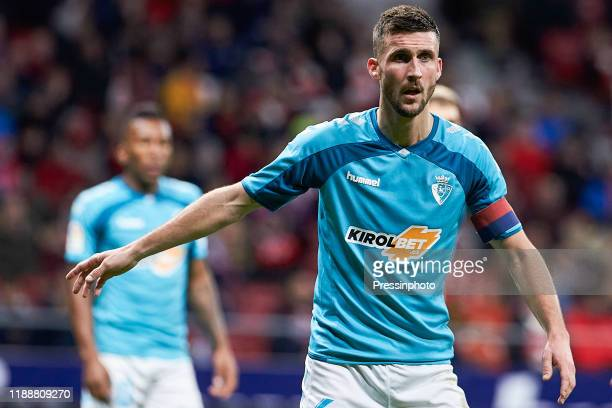 Oier Sanjurjo of Osasuna during the Liga match between Atletico de Madrid and Osasuna on December 14 2019 in Madrid Spain