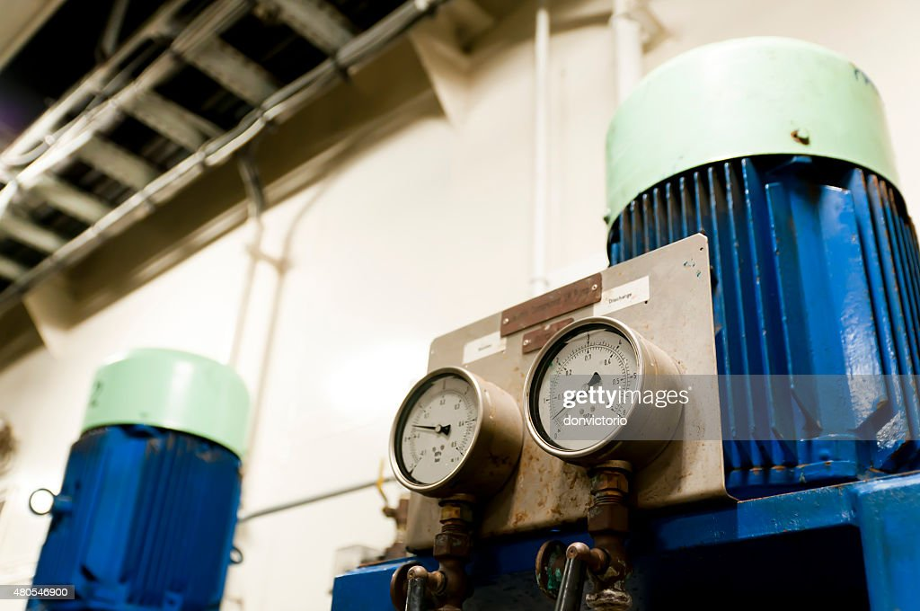 Oil and Gas Industrial Engineering Interior : Stock Photo