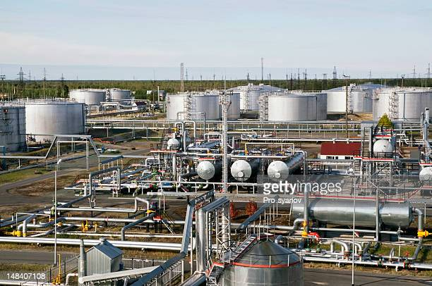 oil and gas industry. - gas refinery stock photos and pictures