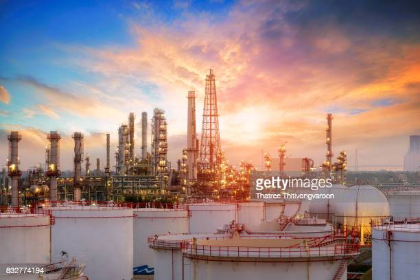 Oil and gas industry - refinery factory - petrochemical plant