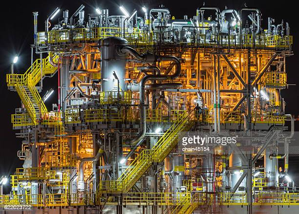 Oil and gas processing platform.