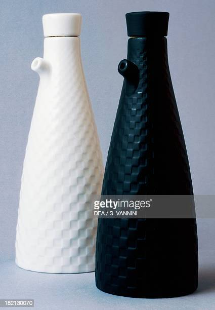 Oil and vinegar cruet Night and Day series Wedgwood manufacture StokeonTrent England 20th century