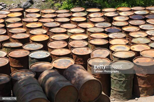oil barrels - oil barrel stock pictures, royalty-free photos & images