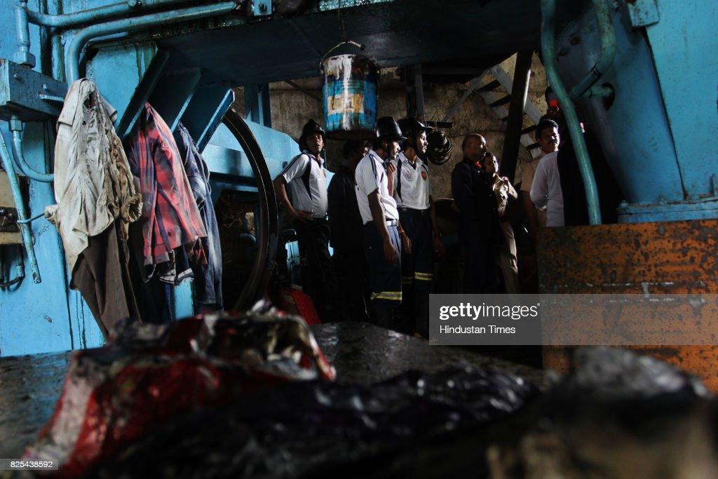 Oil blast in boiler workshop service road, Ghodbunder road