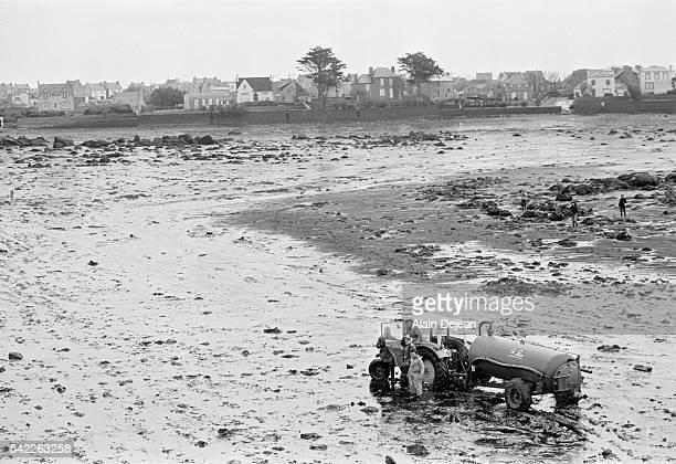 Oil Covered Beach After Amoco Cadiz Oil Spill