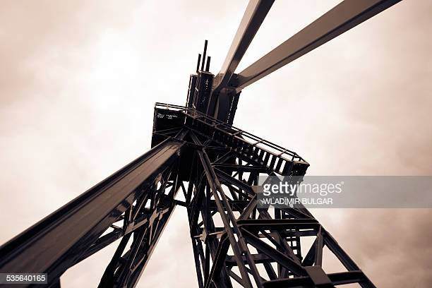 Oil drill, low angle view