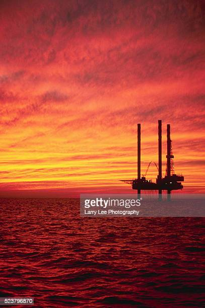 Oil Drilling Platform in Gulf of Mexico
