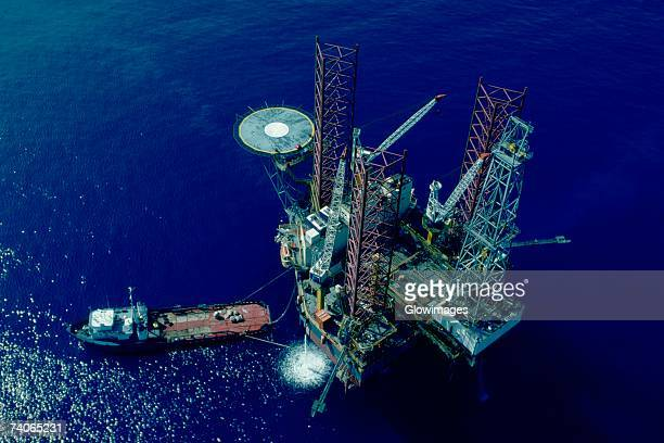 Oil drilling platform in the Mediterranean