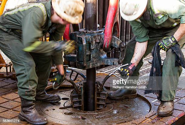 Oil drilling rig in Bakken