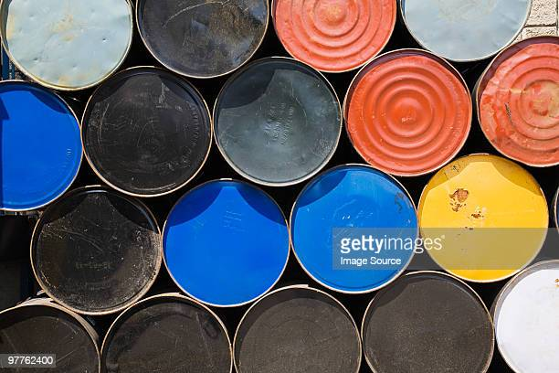 oil drums - oil barrel stock pictures, royalty-free photos & images