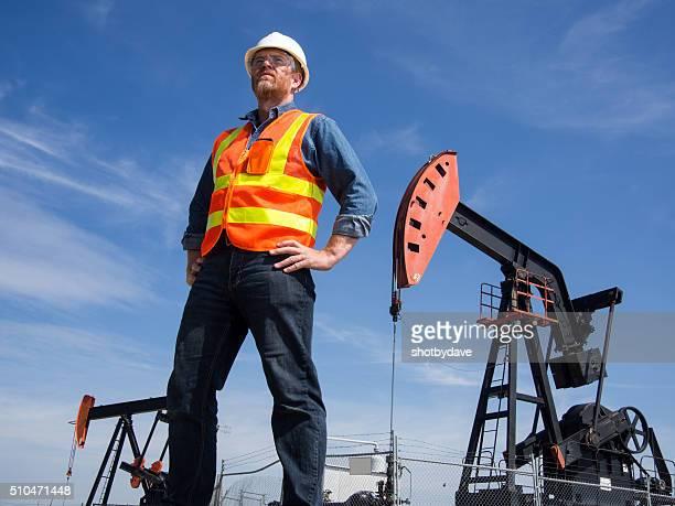 Oil Engineer and Pumpjkacks