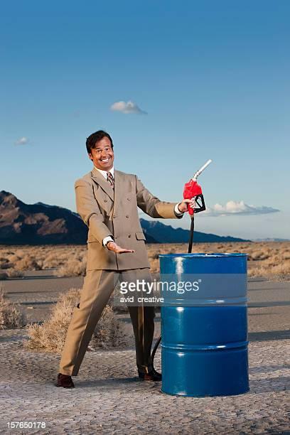 石油ガスのエグゼクティブにバレルの砂漠