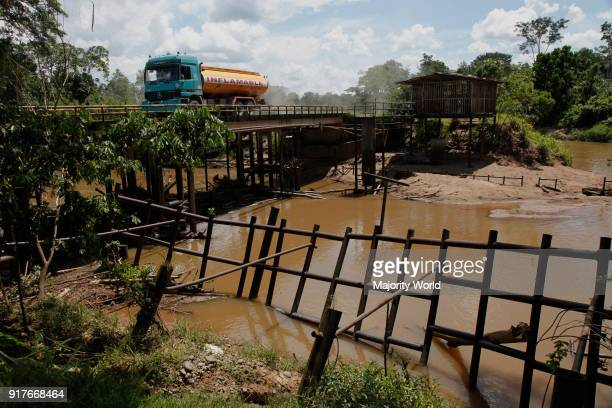 Oil extraction and pollution in the Amazon Huaorani Amerindians trying to survive through ecotourism against the threat of oil multinationals Yasuni...