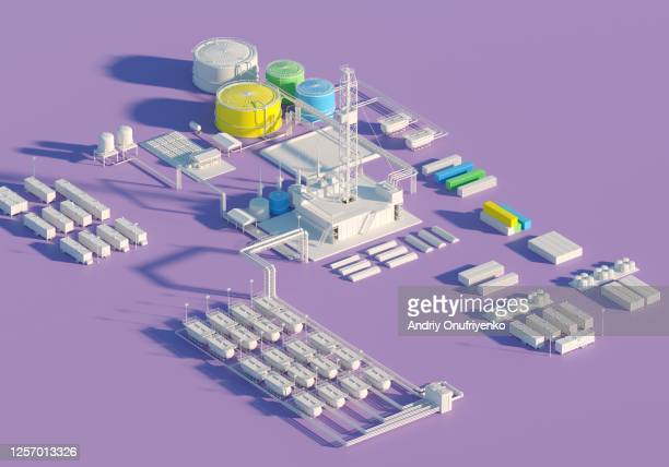 oil factory - gas stock pictures, royalty-free photos & images