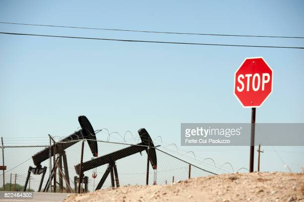 Oil field and Oil Pump near Bakersfield, California, USA