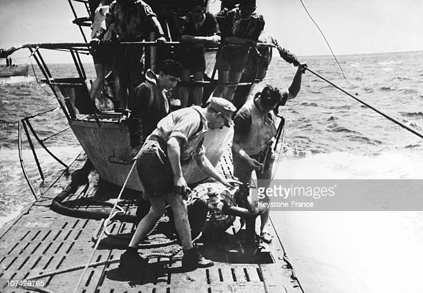 Oil Filling Of A German U Boat In Full Sea On 1943 27Th September