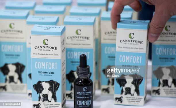 CBD oil for pets on display at the Southern Hemp Expo at the Williamson County Agricultural Exposition Park in Franklin TN on Friday Sept 6 2019