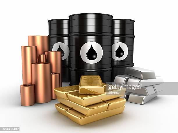 Oil, gold,platinum and copper