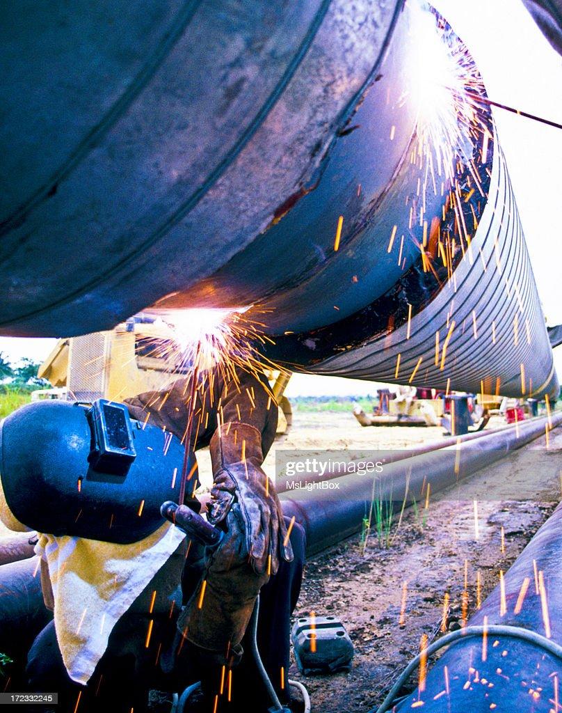 Oil Industry, Welder : Stock Photo