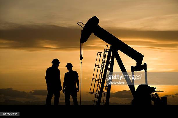 oil industry workers meeting - oil worker stock pictures, royalty-free photos & images