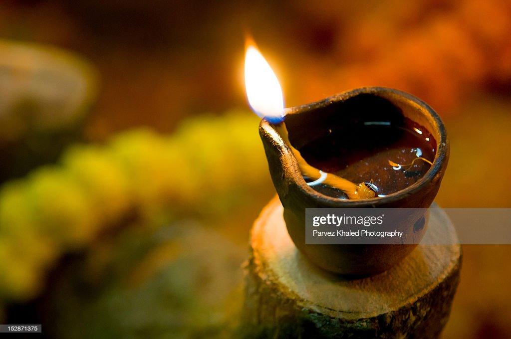 Oil lamp : Stock Photo