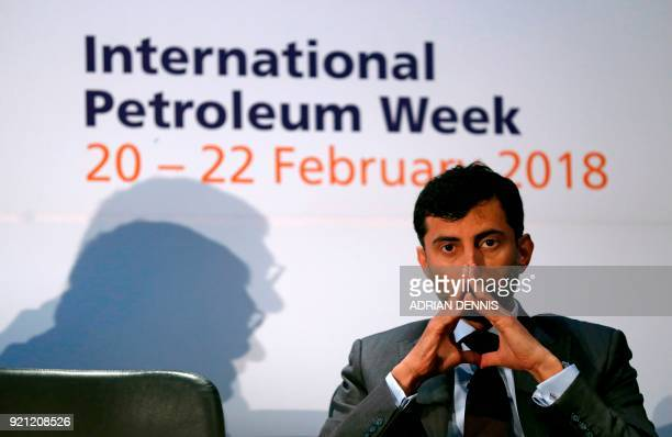 UAE Oil Minister and the current OPEC Conference President Suhail Mohamed alMazrouei attends the opening session of the International Petroleum Week...
