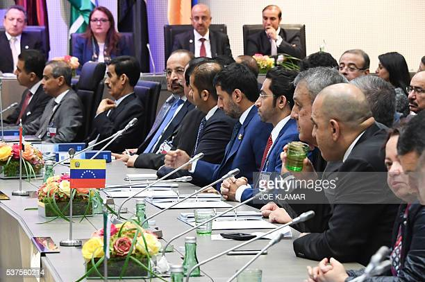 OPEC oil ministers attend attend the 169th meeting of the Organization of the Petroleum Exporting Countries OPEC at OPEC headquarters in Vienna...