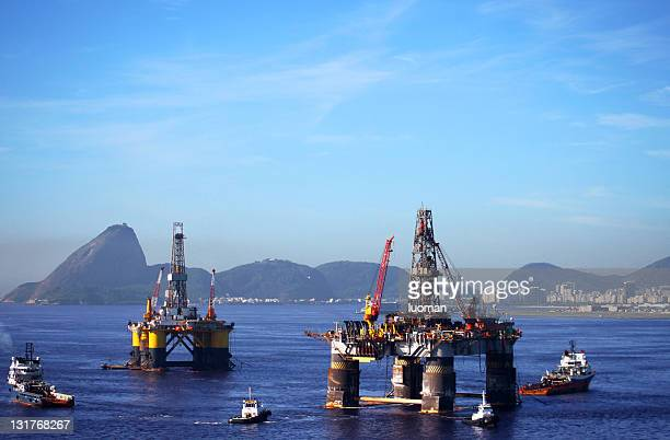 plataformas de petróleo offshore no rio de janeiro - equipamento - fotografias e filmes do acervo