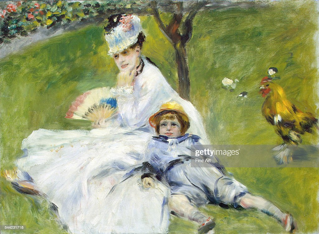 Madame Monet and Her Son by Pierre-Auguste Renoir : News Photo