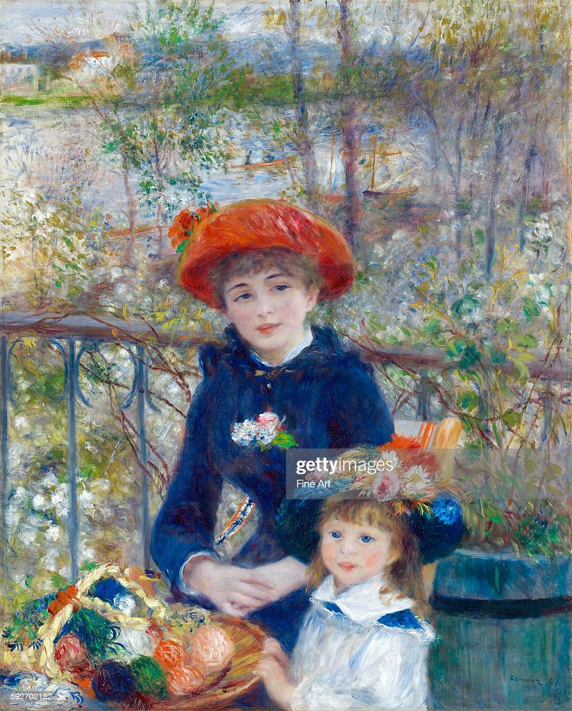 Two Sisters (On the Terrace) by Pierre-Auguste Renoir : News Photo
