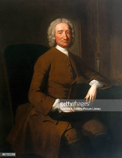 Oil on canvas painting by Thomas Hudson showing Graham seated beside a mercury compensating pendulum in an open clock case c 1710 Following his...