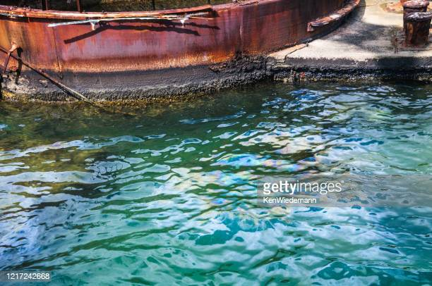 oil on the water - uss_arizona stock pictures, royalty-free photos & images