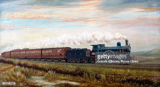 Oil painting by J Longden The North Country Continental Passenger Train is being hauled by a Holden 222 class D27 locomotive No 1001