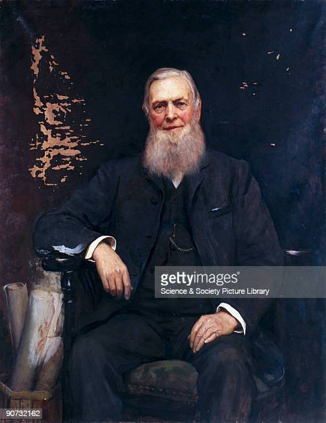 Oil painting by Sir Hubert von Herkomer of William Cawkwell, general manager of the London & North Western Railway company. Herkomer was a...